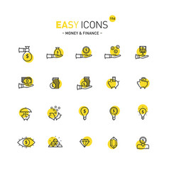 easy icons 11d money vector image