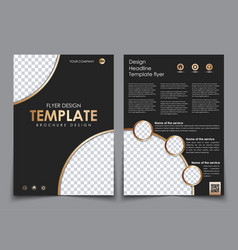 Cover design and the back of the black color with vector