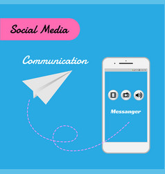 Smart phone for social media for communication vector