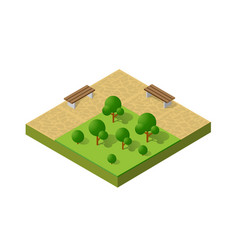 Natural ecological landscape isometric icon city vector