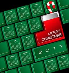 2017 creative keyboard christmas calendar vector