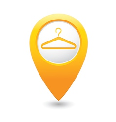 clothers hanger icon pointer yellow vector image