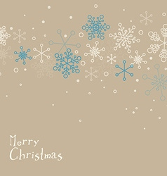 Retro simple christmas card with snowflakes vector