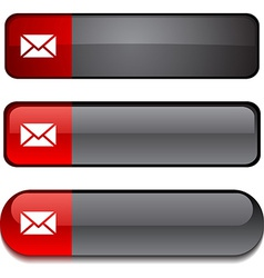 Mail button set vector