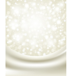 christmas background with white silk vector image