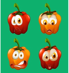Facial expression on bell pepper vector