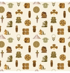 Maya seamless pattern vector