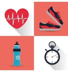 Gym and fitness icons design vector