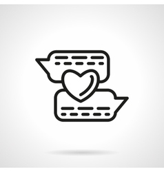Romantic chat simple line icon vector