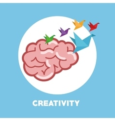 Graphic design of Creativiy vector image