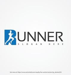 Runner logo vector