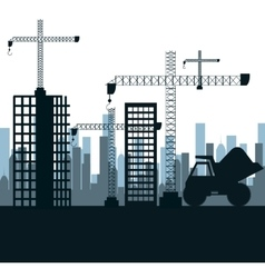Construction machinery design vector