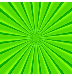 Green abstract rays circle background vector image
