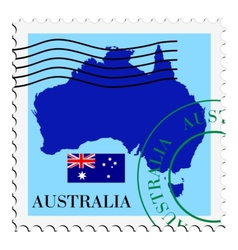 mail to-from Australia vector image