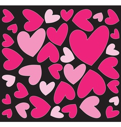 abstract pink hearts vector image vector image