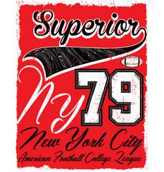 American football vintage print for boy vector