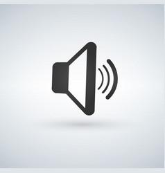 audio speaker volume or music speaker volume on vector image
