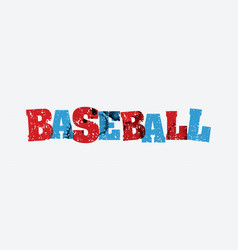 Baseball concept stamped word art vector