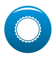 Beer cap icon blue vector