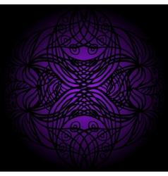 Black lace on violet vector image