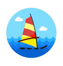 board windsurfing icon summer vacation vector image