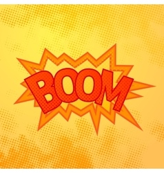 Boom comics sound effect with halftone pattern on vector