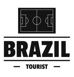 brazil tourist logo simple black style vector image
