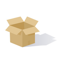 cartoon open box vector image