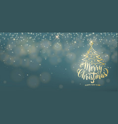 christmas background happy new year holiday type vector image vector image