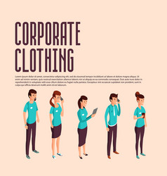 corporate clothes isometric vector image vector image