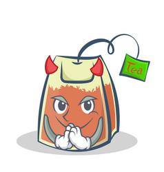 Devil tea bag character cartoon art vector