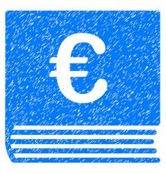 Euro sales book grunge icon vector
