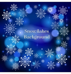 falling snow vector image vector image