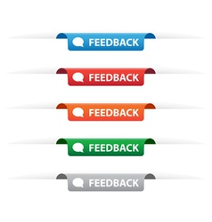 Feedback paper tag labels vector image
