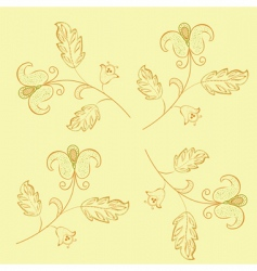 floral retro pattern vector image