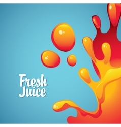 fresh juices and drops and splashes vector image