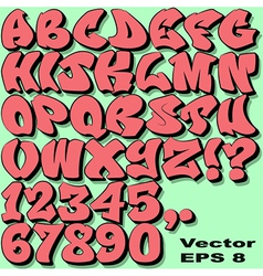 Graffiti letters and numbers vector