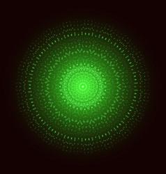 green light mandala abstract ornament vector image