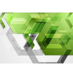 Green shiny hi-tech geometric background vector image vector image