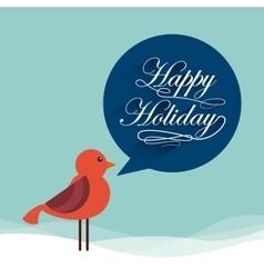 happy holiday vector image