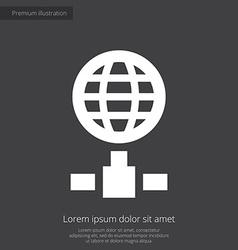 internet premium icon white on dark background vector image
