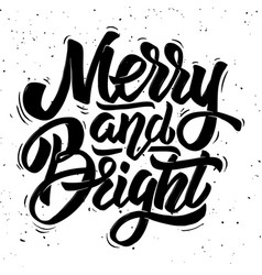 Merry and bright christmas theme vector
