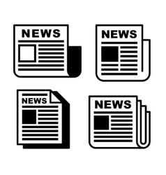 Newspaper Icons Set vector image vector image