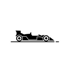 racing car icon vector image