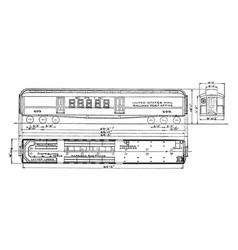 Railway postal car vintage vector