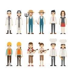 Set of profession characters eps10 format vector image