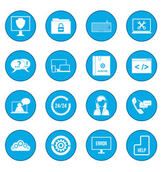 support call center icon blue vector image vector image