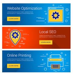 Website optimization online printing local seo vector