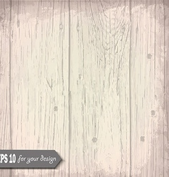 White wooden background for your design vector image