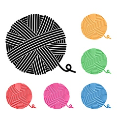 Yarn ball icons vector